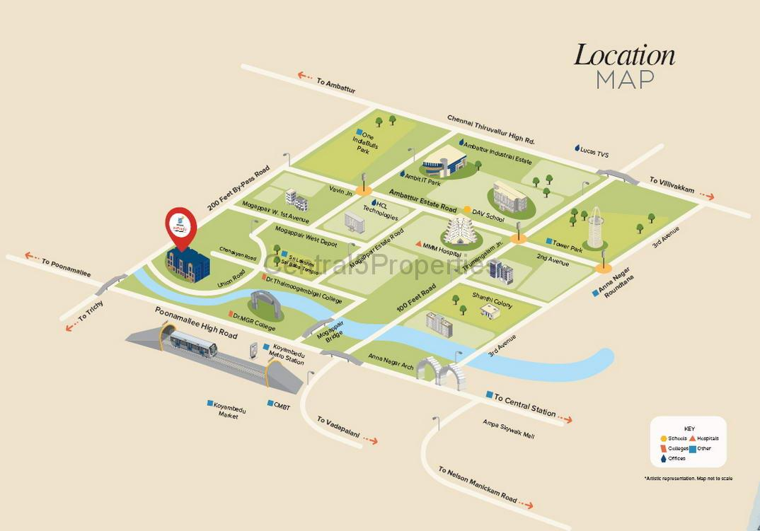 Flats Apartments for sale to buy in Mogappair West Chennai Bonit at Brigade Xanadu