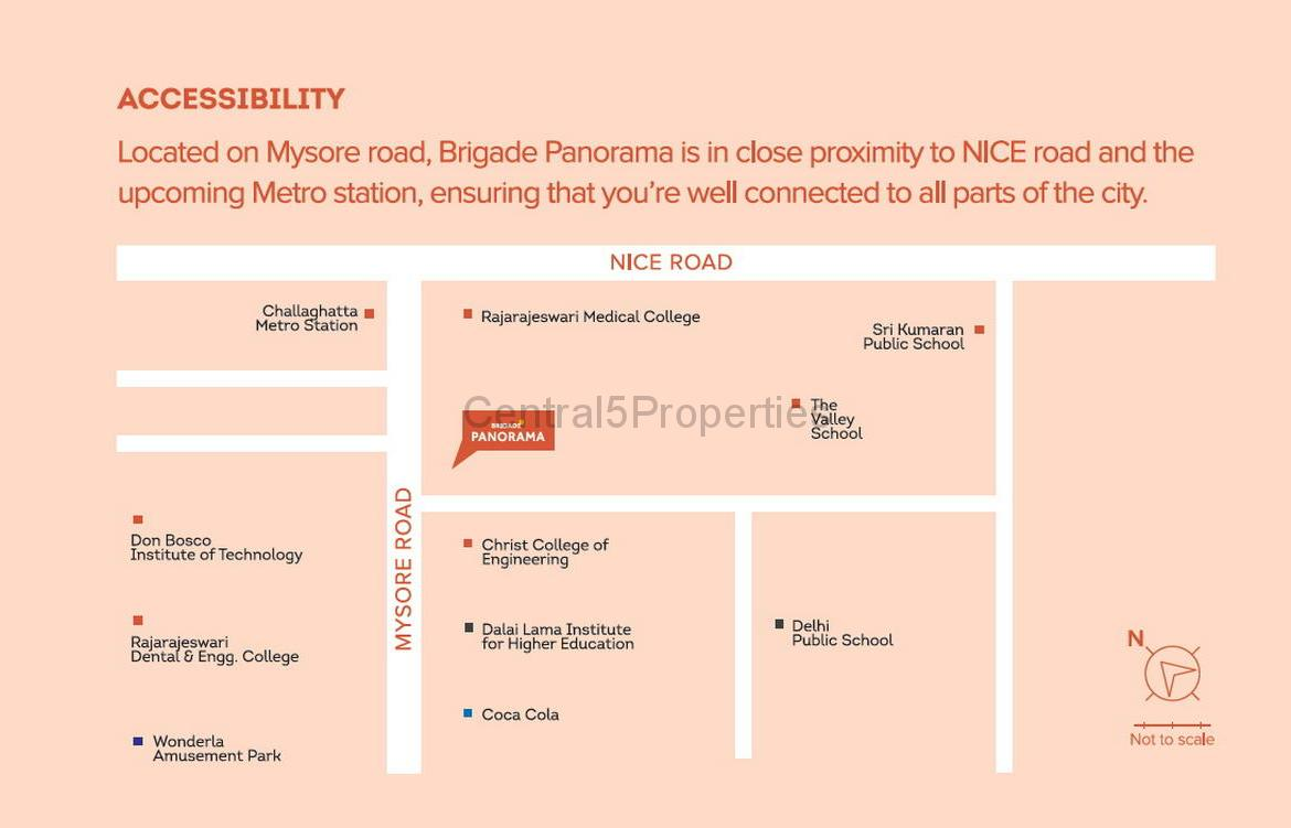 Flats Apartments Homes for sale to buy in Mysore Road Bangalore Brigade Panorama