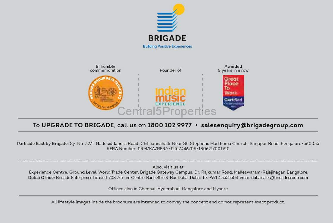 Flats Apartments for sale to buy in Sarjapur Road Bangalore Brigade Parkside East