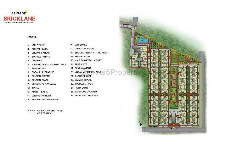 Flats Apartments for sale to buy in Jakkur Bengaluru Brigade Bricklane